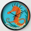 Catalinaware Seahorse Clock