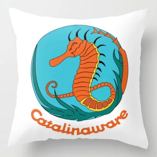 Catalinaware Seahorse Pillow