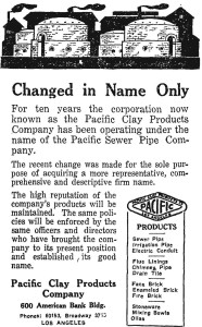 Pacific Clay Name Change