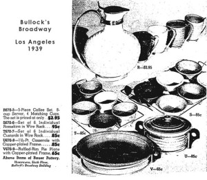 Bauer Pottery - Bullock's Broadway department store, Los Angeles, 1939