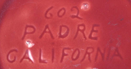 Padre Pottery In-Mold Mark