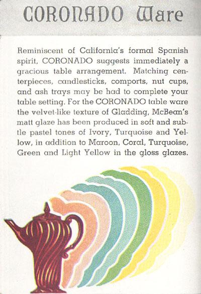 Franciscan Coronado Advertisement