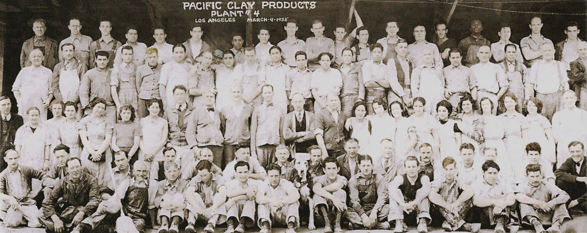 Pacific Clay Employees 1935