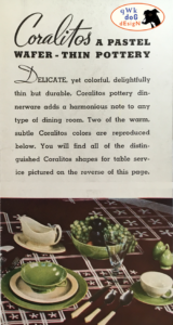 Pacific Pottery Coralitos Brochure