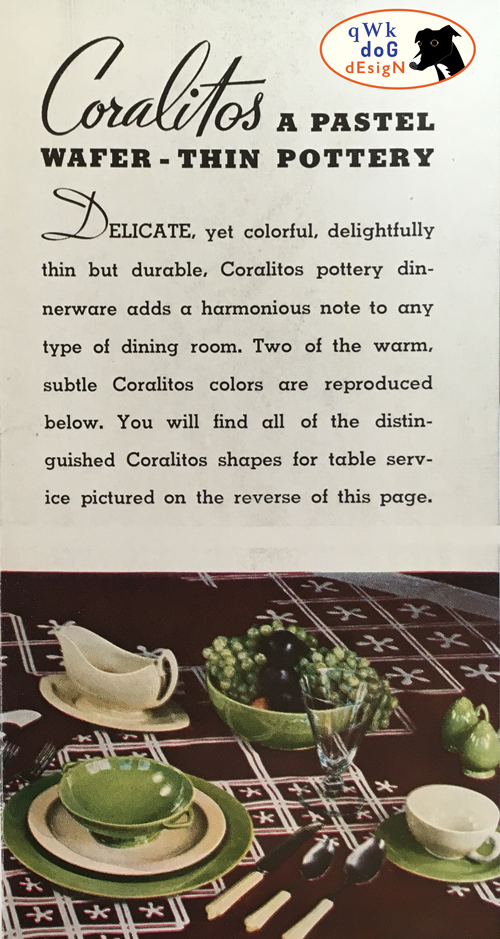Pacific Pottery Coralitos Brochure
