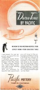 Pacific Pottery Dura-Tone Ad - March 1941