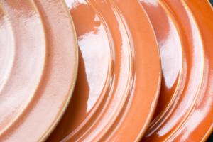Pacific Hostessware Apricot & Apache Glazes