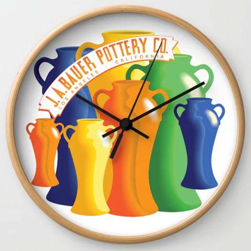 Bauer Pottery Vase Clock
