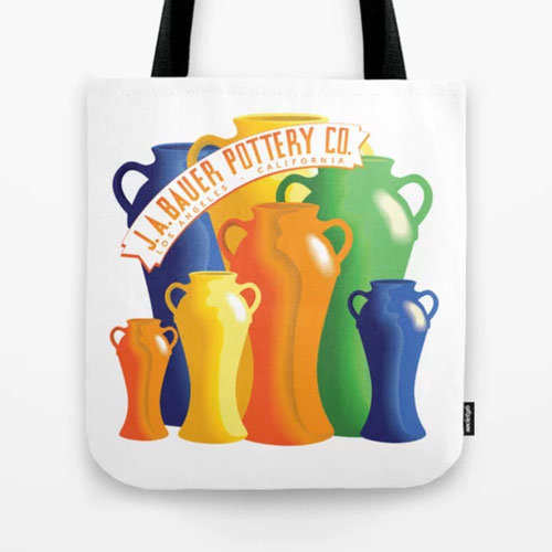 Bauer Pottery Vase Tote