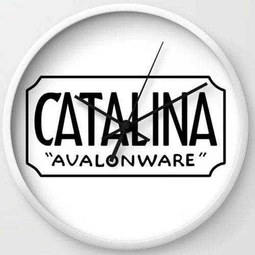 Catalina Island Avalonware Logo Clock