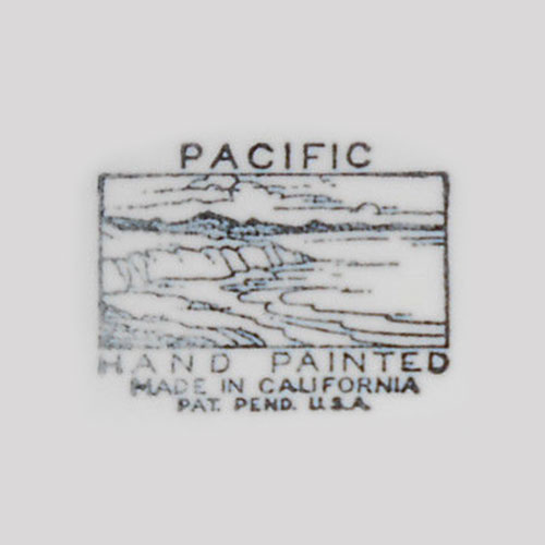 Pacific Hand Painted Backstamp
