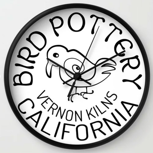 Vernon Kilns Bird Logo Clock