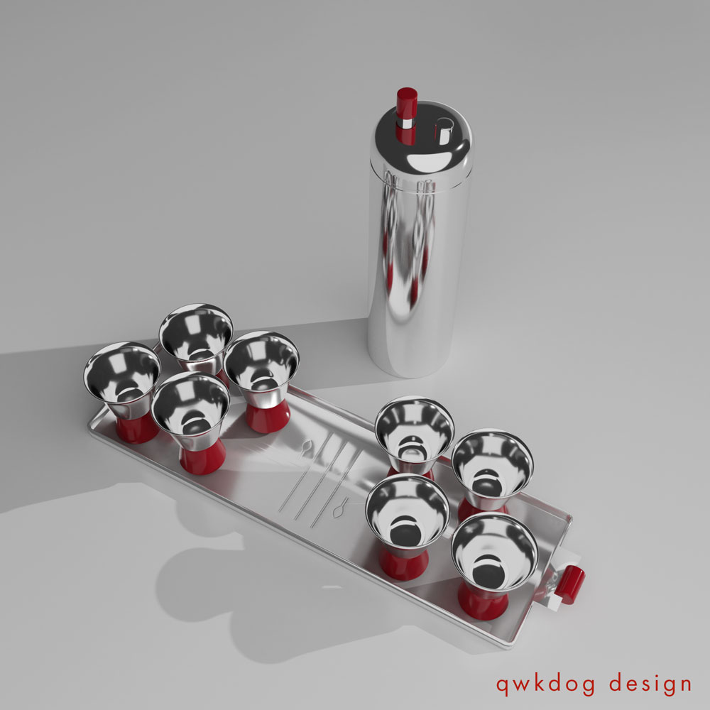 QwkDog 3D Revere Zephyr Cocktail Shaker Set