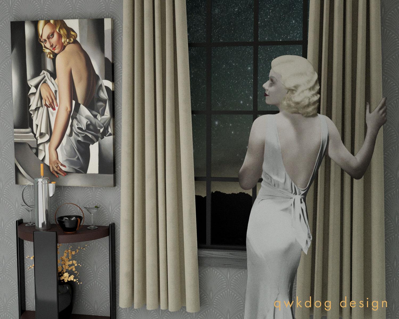 QwkDog 3D Jean Harlow Barware