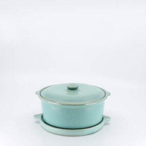 Pacific Pottery Hostessware 200-201 Casserole Trivet Green