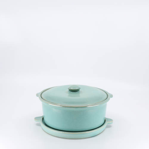 Pacific Pottery Hostessware 200-201 Casserole Trivet Green