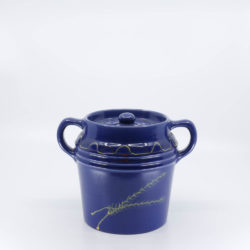 Pacific Hostessware 235 Beanpot Pacific Blue Decorated (Wheat)
