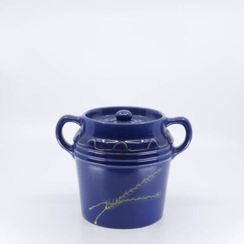 Pacific Pottery Hostessware 235 Beanpot Dec Wheat Pacblue