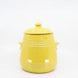 Pacific Hostessware 305 Pretzel Jar Yellow