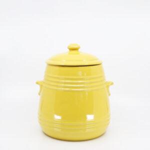 Pacific Hostessware 305 Pretzel Jar Yellow