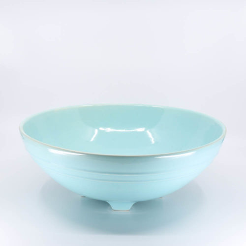 Pacific Pottery Hostessware 314 Serving Bowl Aqua