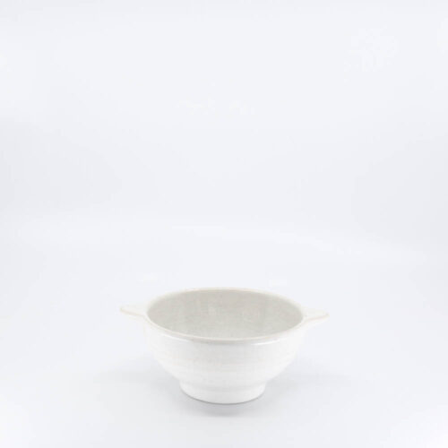 Pacific Pottery Hostessware 36A Lug Soup Bowl White