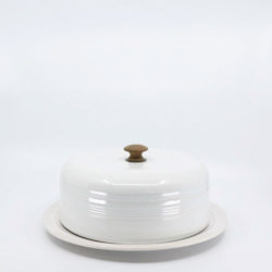 Pacific Hostessware 416 Cheese Cover White