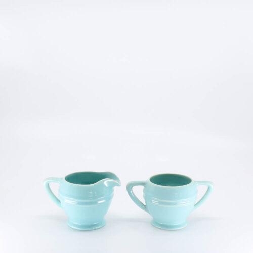 Pacific Pottery Hostessware 461-462 Restyled Creamer & Sugar Aqua