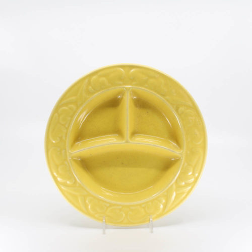 Pacific Pottery Hostessware 656 Child's Plate Yellow