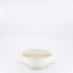 Pacific Hostessware 665 Divided Bowl Tab White