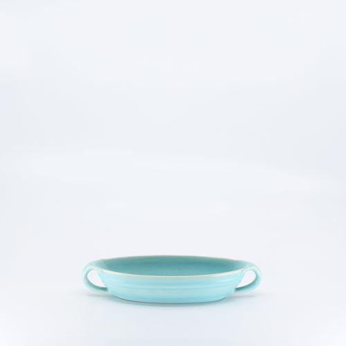 Pacific Pottery Hostessware 666 Ind Salad Server Aqua