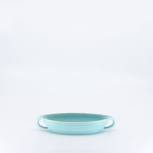 Pacific Pottery Hostessware 666 Ind Salad Server Aqua