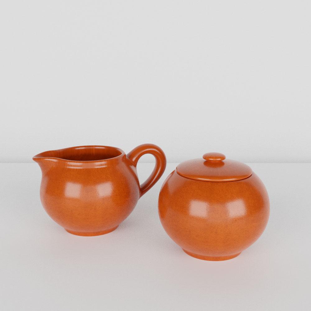 Pacific Pottery Hostessware 3D 400 Creamer Sugar