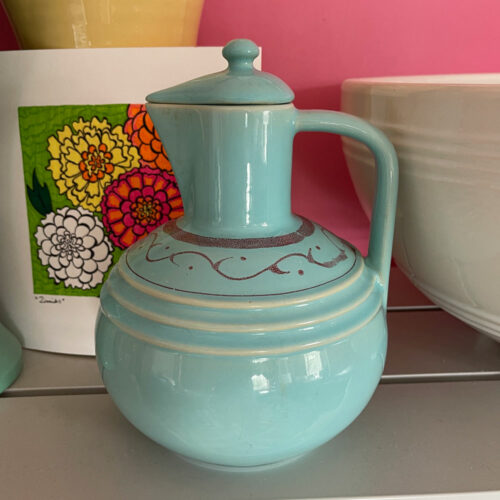 Pacific Pottery Hostessware 453 Carafe Aqua 2002