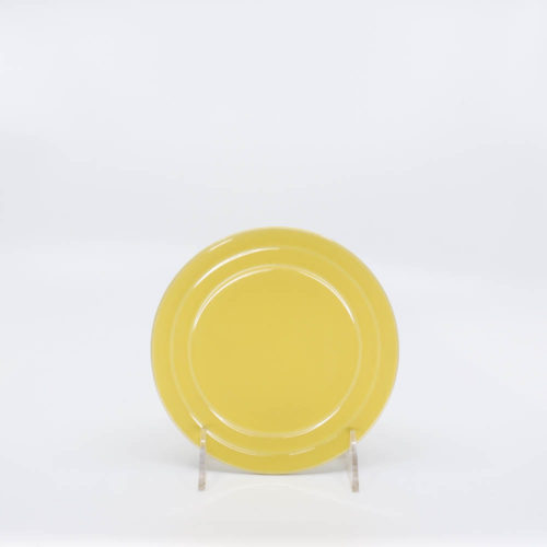 Pacific Pottery Hostessware 614 Bread Plate Yellow