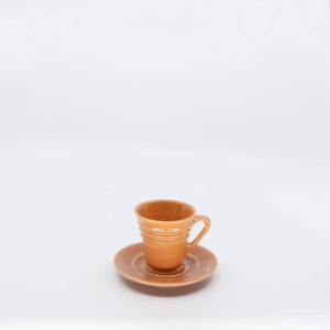 Pacific Pottery Hostessware 629-631 Demi Cup-Saucer Apricot