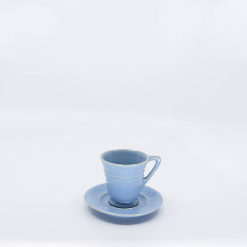 Pacific Pottery Hostessware 629-631 Demi Cup-Saucer Delph