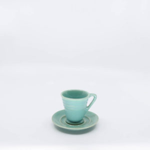 Pacific Pottery Hostessware 629-631 Demi Cup-Saucer Green