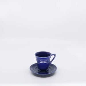Pacific Pottery Hostessware 629-631 Demi Cup-Saucer Pacblue