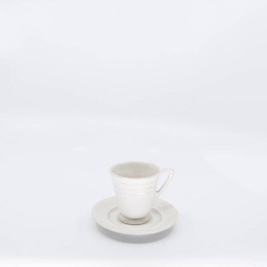 Pacific Pottery Hostessware 629-631 Demi Cup-Saucer White