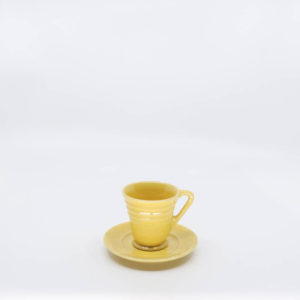 Pacific Pottery Hostessware 629-631 Demi Cup-Saucer Yellow