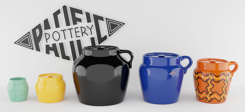 QwkDog 3D Pacific Pottery Beanpots