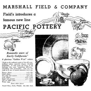 Pacific Pottery Hostessware 1935 Ad