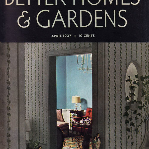 Better Homes April 1937 Cover