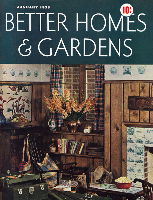 Better Homes Jan 1938 Cover