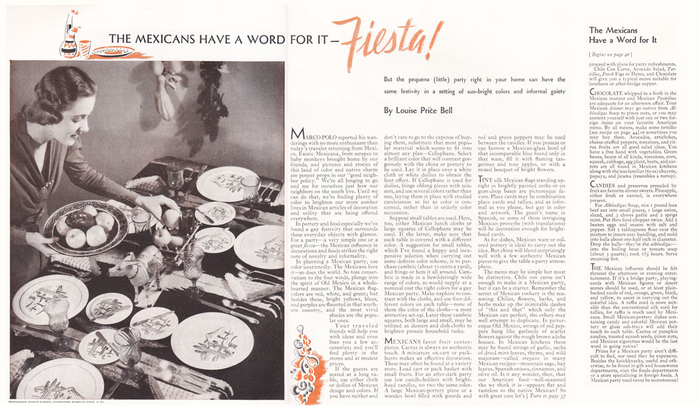 Better Homes Jan 1938 Vernon Kilns Fiesta