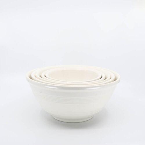 Pacific Pottery Hostessware Mixing Bowl Set White
