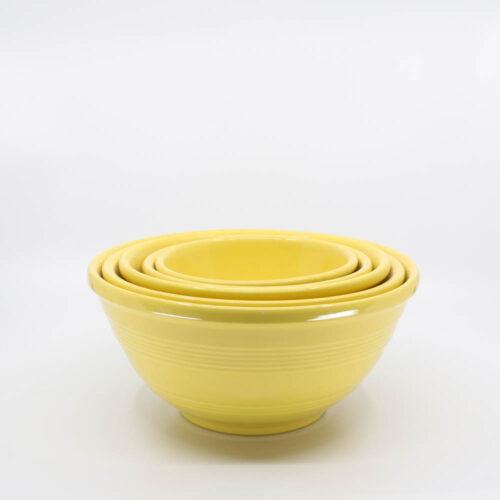 Pacific Pottery Hostessware Mixing Bowl Set Yellow