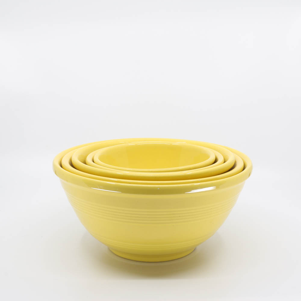 Pacific Pottery Hostessware Mixing Bowl Set Yellow