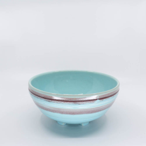 Pacific Pottery Hostessware 310 Salad Bowl Dec 2007 Aqua
